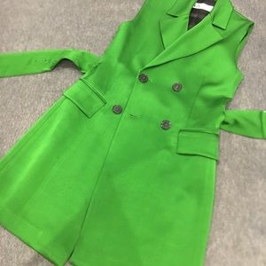 Green blazer dress